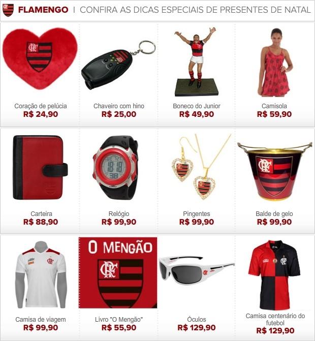 INFO presente Natal Flamengo 2 (Foto: Editoria de Arte / Globoesporte.com)