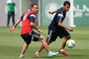 Bruno César e Mendieta Palmeiras (Foto: Cesar Greco/Ag Palmeiras/Divulgação)
