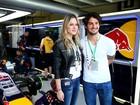 Assumidíssimos! Fiorella Mattheis e Pato vão juntos ao GP de Interlagos