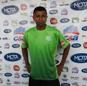 Lateral-esquerda do Uberlândia Esporte Clube, Francisco de Assis (Foto: Caroline Aleixo/GLOBOESPORTE.COM)
