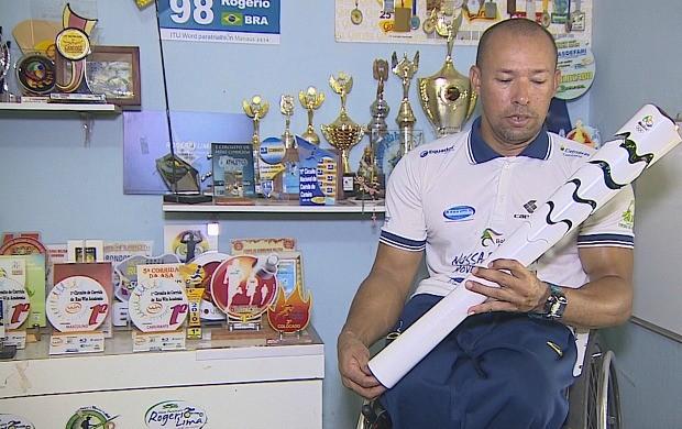 Rondoniense Rogério Lima é o 3º melhor paratleta do Brasil (Foto: Globo Esporte)