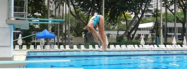 Laurinha, atleta dos Saltos Ornamentais (Foto: Arquivo Pessoal)