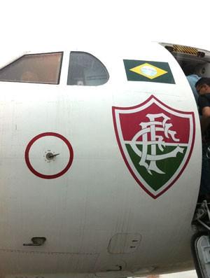 Avião Fluminense (Foto: Edgard Maciel / Globoesporte.com)