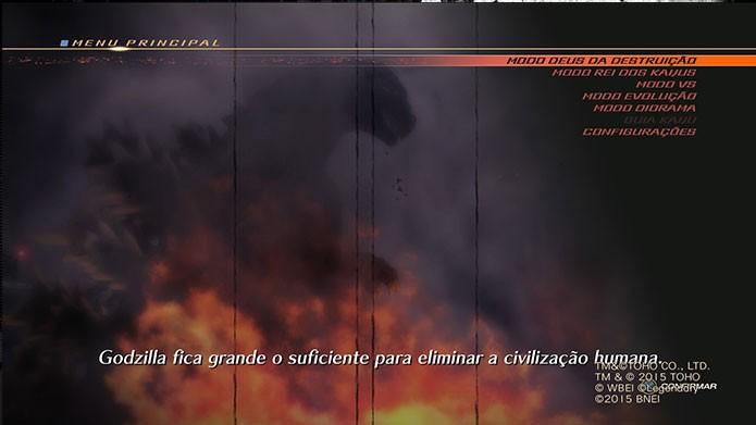 O game traz várias versões de Godzilla (Foto: Reprodução/Felipe Vinha)