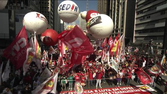Primeiro de Maio tem comemoração e manifestações contra reformas