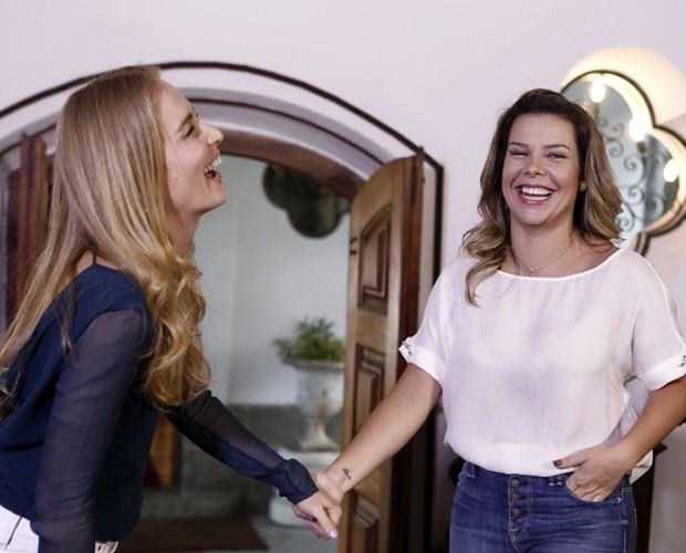 Angélica e Fernanda Souza desejam felicidades para Preta Gil e Rodrigo Godoy (Foto: Inácio Moraes / Gshow)