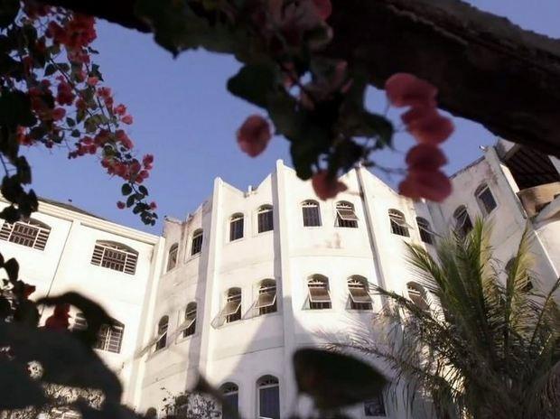 Vista do 'castelo' que era construído pelo cantor José Rico em Limeira (Foto: Reprodução/TV Globo)