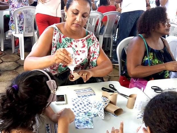 Oficina de reciclagem é ministrada na 23ª Ação Global em São Luís (MA) (Foto: Danilo Quixaba/Mirante AM)