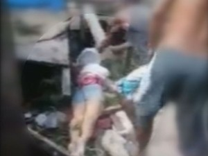 Homem suspeito de agredir dona de casa com um pedaço de madeira é preso em Guarujá, SP (Foto: Reprodução / TV Tribuna)