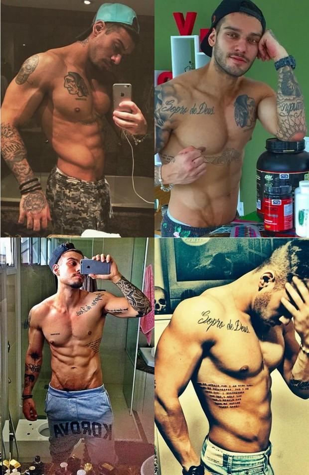 Lucas Lucco faz dieta rigorosa: Mudei de treino radicalmente. Perder músculo é mais difícil que do que gordura. Deixei os pesos da musculação de lado e estou investindo mais no aeróbico. Tenho feito muito cross fit, tento ir de segunda a sábado (Foto: Reprodução do Instagram)