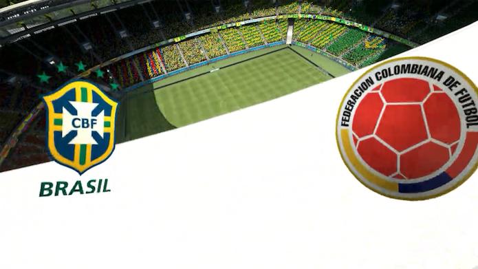 Simulação Copa do Mundo Fifa 2014: Brasil x Colômbia (Foto: Reprodução/Murilo Molina)