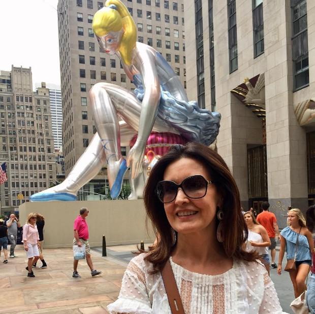 Fátima Bernardes em NY (Foto: Reprodução/Instagram)