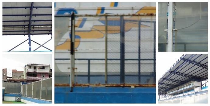 Estádio Moacyrzão está com a estrutura comprometida (Foto: Gustavo Garcia/GloboEsporte.com)