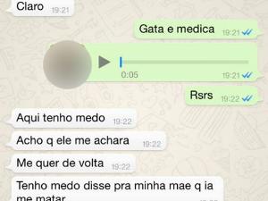 Mensagens trocadas via WhatsApp (Foto: Reprodução WhatsApp)