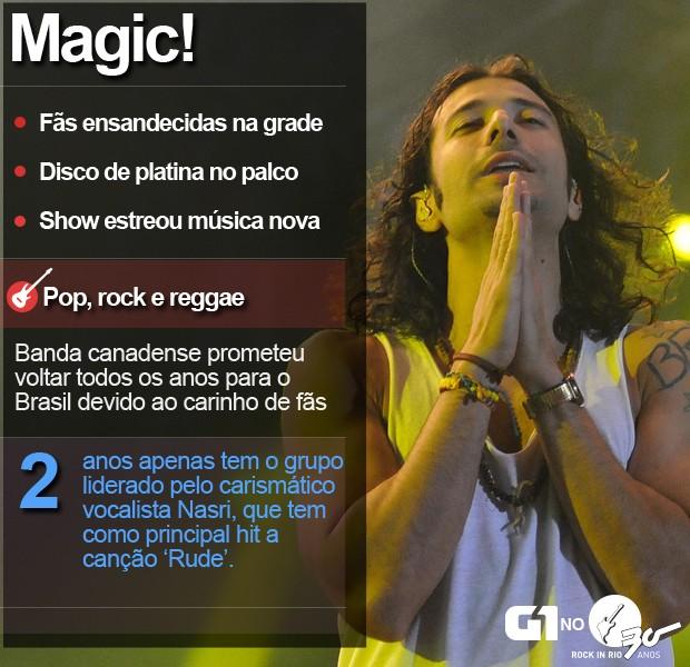 Magic! foi a penúltima banda do Palco Sunset (Foto: Alexandre Durão/G1)