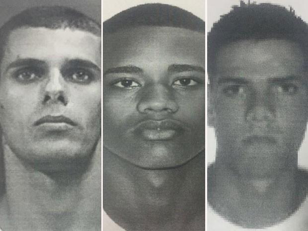 Polícia divulga imagem de suspeitos de estupro coletivo no Rio. Da esquerda para a direita, Raphael Belo, Marcelo Correa, Sergio Luiz da Silva Junior.  (Foto: Divulgação/Polícia Civil do RJ)