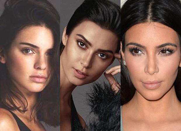 Parecidas? Thaila Ayala é comparada com Kendall Jenner (esq) e Kim Kardashian em ensaio (Foto: Reprodução/Instagram)
