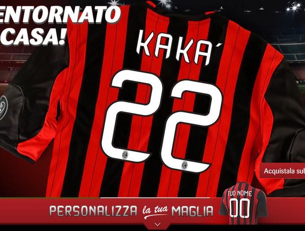 site Camisa kaká milan (Foto  Reprodução   Site Oficial do MIlan) 64f4a22146a43