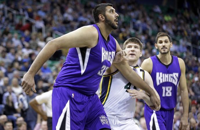 Sim Bhullar Kings x Jazz NBA - AP (Foto: AP)