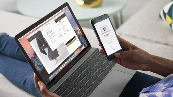 Apple Pay pode usar Touch Id de dispositivos móveis para compras no Mac (Foto: Reprodução/Apple)