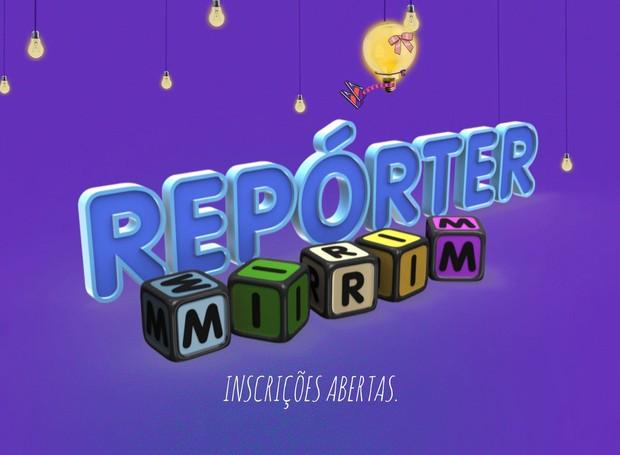 Inscrições para Repórter Mirim vão até o fim do mês de setembro (Foto: Divulgação)