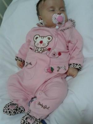 Bebê tem três meses de vida e saiu da UTI nesta quarta-feira (26) (Foto: Divulgação / Campanha 'Ajude a Sofia')