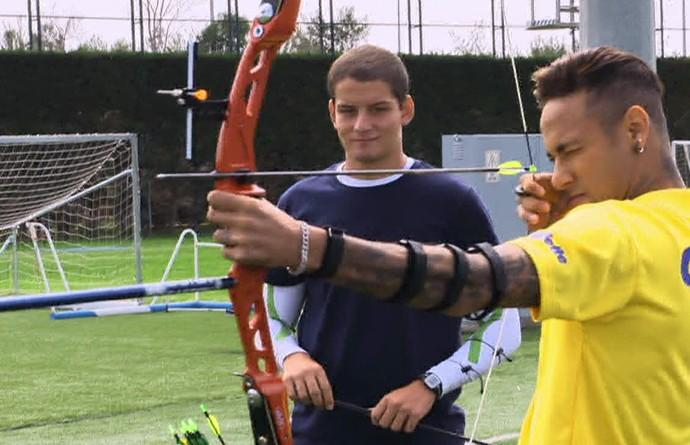 Neymar, Luciano Huck e Marcus D'Almeida (Foto: Gshow)
