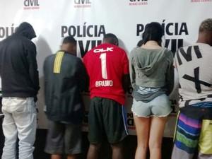 Jovens foram levados para o Ceresp em Juiz de Fora (Foto: Polícia Civil/Divulgação)