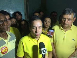 ARACAJU (SE): Valadares Filho (PSB) fala sobre derrota nas urnas e agradece os mais de 134 mil votos (Foto: Tássio Andrade/G1)