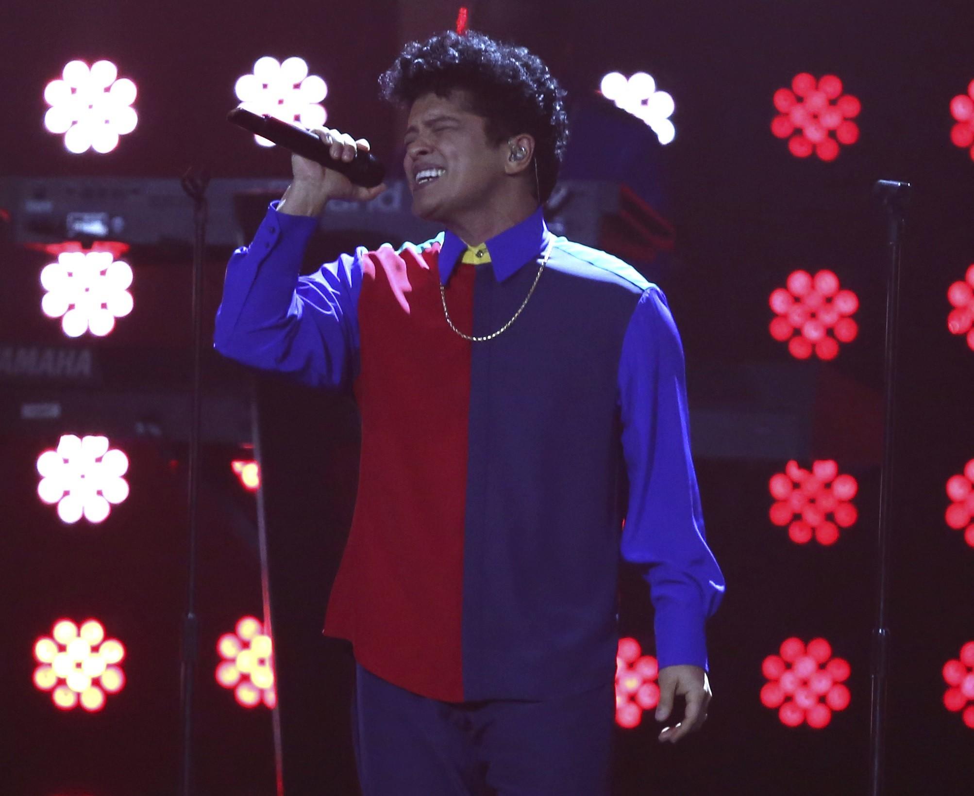 Bruno Mars tem dois shows marcados no Brasil, em novembro, no Rio e em So Paulo (Foto: Joel Ryan/Invision/AP)