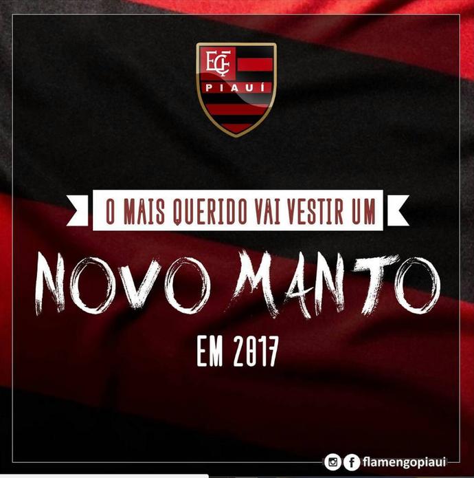 Nova camisa Flamengo-PI (Foto: Reprodução/Instagram)