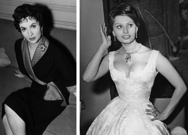 Gina Lollobrigida e Sophia Loren (Foto: Getty Images)