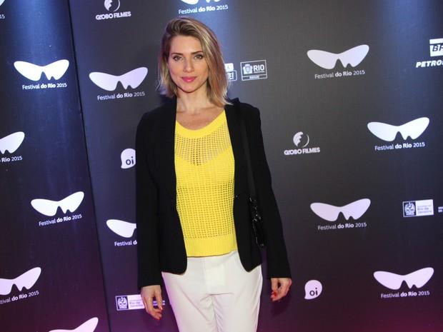 Letícia Spiller em pré-estreia de filme na Zona Sul do Rio (Foto: Felipe Assumpção/ Ag. News)