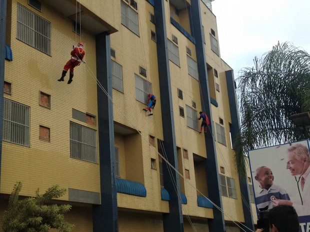 Ação aconteceu na tarde desta quarta-feira (23) em um hospital infantil de Joinville (Foto: Grupo Cleanse/Divulgação)