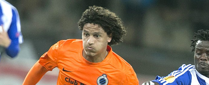 Felipe Gedoz Club Brugge X HJK (Foto: Agência EFE)