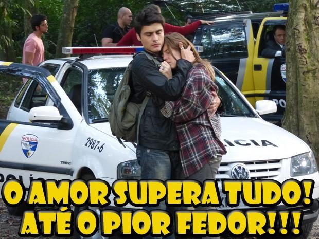 Vitor e Lia (Foto: Malhação/ TV Globo)