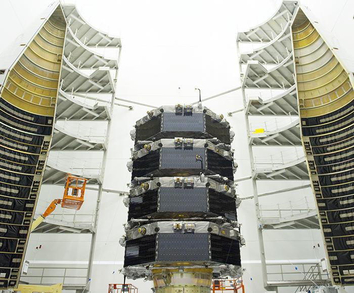 a MMS dentro do foguete que a levou para o espaço (Foto: nasa)