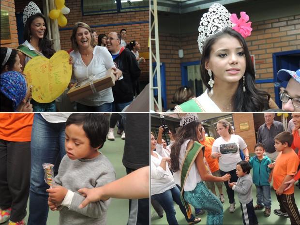 Miss Brasil visita Apae em Porto Alegre    (Foto: Tatiana Lopes/G1)