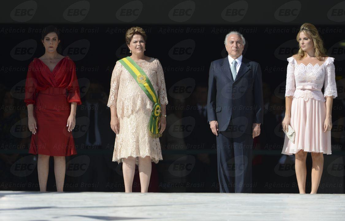 A então presidenta Dilma Roussef e o então vice-presidente Michel Temer no dia da posse (Foto: José Cruz/Agência Brasil)