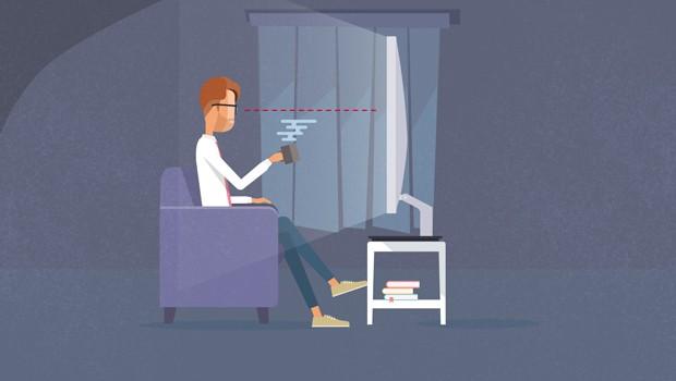 Ter uma TV gigante nem sempre é sinal de conforto (Foto: Divulgação/RPC)