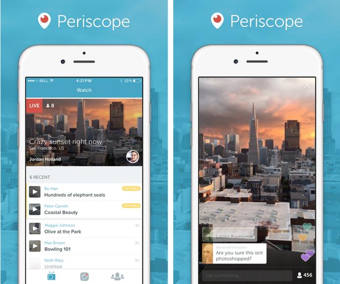 Periscope é o novo app de streaming de vídeo do Twitter (Foto: Divulgação/ Periscope)