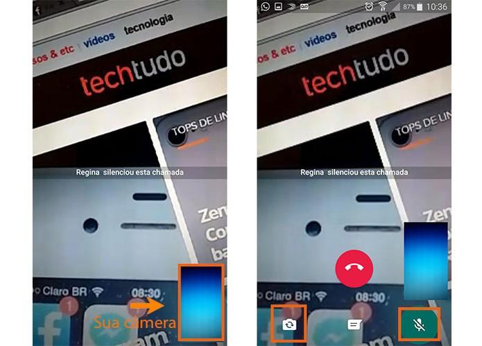 A videochamada do WhatsApp será inicializada no Android (Foto: Reprodução/Barbara Mannara)