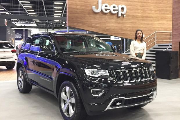 Jeep Grand Cherokee Overland no Salão do Automóvel 2016 (Foto: Michelle Ferreira / Autoesporte)