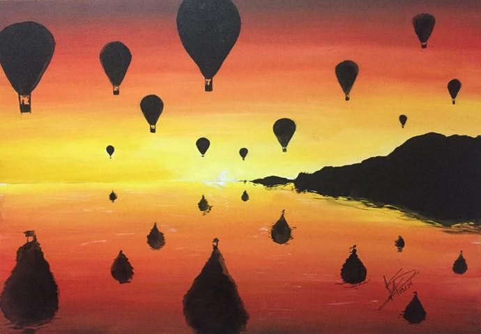 Lucas Veloso começou a pintar após ver o pai criando suas obras de arte (Foto: Arquivo Pessoal)
