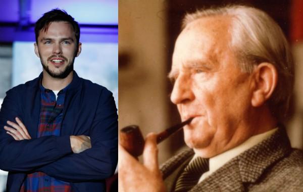 O ator Nicholas Hoult e o escritor J.R.R. Tolkien (Foto: Getty Images/Reprodução)