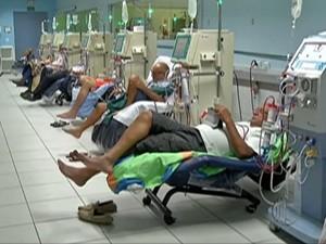 Centro de hemodiálise de Mogi das Cruzes (Foto: Reprodução/TV Diário)