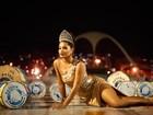 Juliana Alves inaugura os ensaios de carnaval do EGO e fala da expectativa para estrear como rainha
