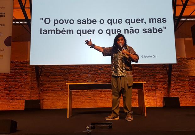 Regina Casé em palestra no Festival de Cultura Empreendedora (Foto: Dubes Sônego)