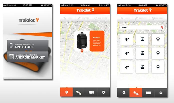 Empresa conta com apps para encontrar bagagens com maior rapidez (Foto: Divulgação/Trakdot)