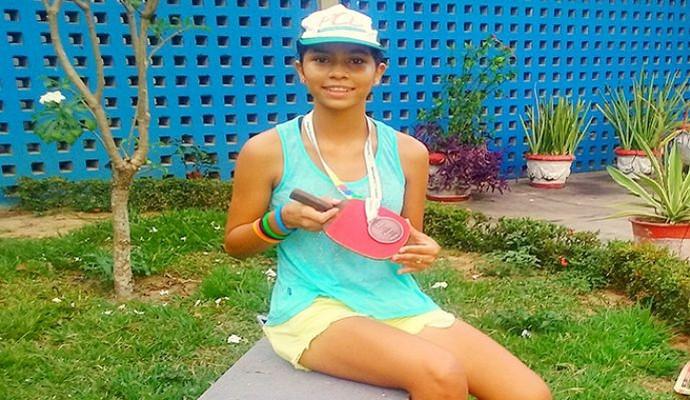 Annifer ficou com o bronze nos Jogos Escolares (Foto: Divulgação)